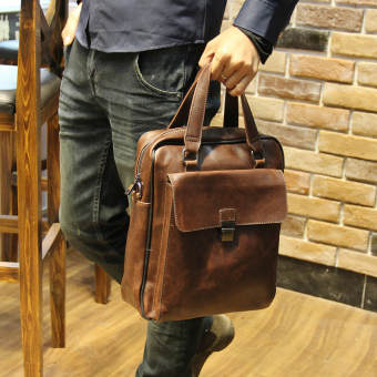 Tidog Male male Satchel Bag Shoulder bag briefcase backpack shoulder bag business casual bag - intl