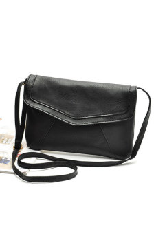 Toprank Womens Leather Envelope Shoulder Bags Ladies Small Summer Handbags Crossbody Sling Messenger Bag ( Black )