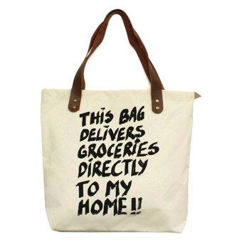 Travel Manila Statement Tote Bag (Beige) - picture 2