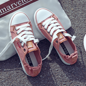 Ulzzang female spring and shoes Korean-style plain weave shoes (Pink) (Pink)
