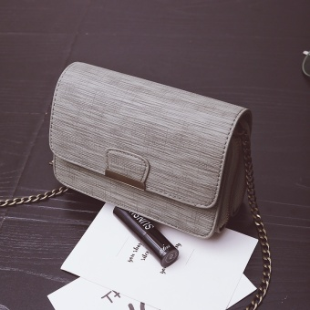 Ulzzang Korean-style female New style multi-shoulder messenger bag small bag (Gray)