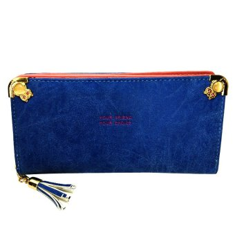 Unisex Long Wallet (Blue)