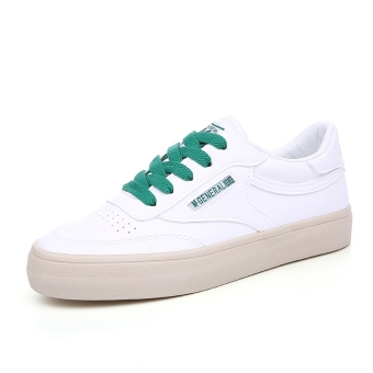 Versatile female New style BayMini shoes (White and green)