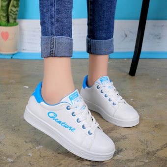 Versatile lace summer BayMini shoes New style shoes (Blue)