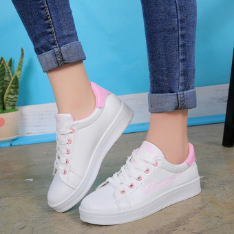 Versatile lace summer BayMini shoes New style shoes (Pink)