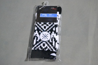Wade Stylish large combat and other socks towel socks (Black and white Wade)