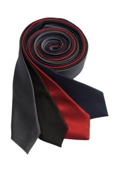 Well Suited Microcheck Slim Necktie Combo B
