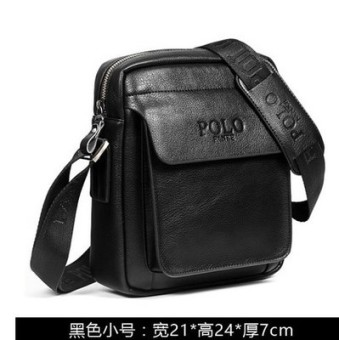 Where the customer Paul Stylish leather youth casual backpack shoulder bag (99125-1 black small)