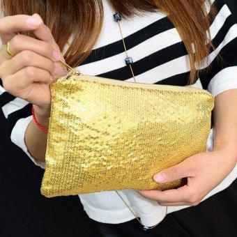 Women Clutch Dazzling Sequins Handbag Gold - picture 2
