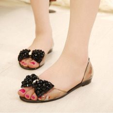 Women Summer Flat Sandals Jelly Sandals Open-toe Beach Sandals GoldPHP604. PHP 607