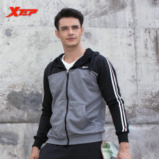 PHP 1.689. XTEP Mens Sport Jackets With Hooded Athletic Suits For Men Running T Shirt Fitness Quick Dry ...