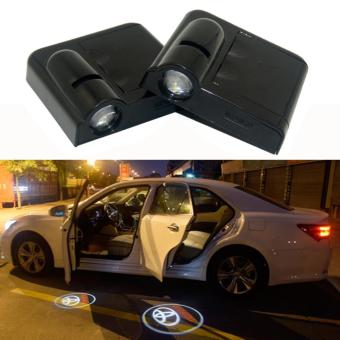 2 x Wireless LED Car Door Logo Projector Welcome Ghost Shadow LightFor TOYOTA (White Light