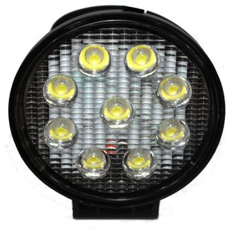 27W Round 9 LED Work Lamp Waterproof Light Driving For CarMotorcycle Boat ATV(#05-27W)