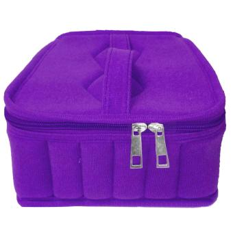 36-compartment Portable Empty Shock Resistant 5ml 10ml 15mlEssential Oil Bottle Storage Travel Carrying Case Holder Bag Purple- intl
