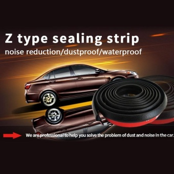 3M Z-type Car rubber door Waterproof sealing strip ABC pillar New durable - intl