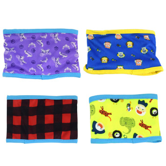 4 PCS Male Dog Washable Reusable Sanitary Belly Band Toilet Diaper Wrap Pants Random Style Size M