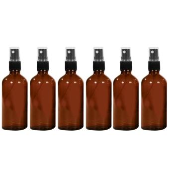 6 PCS 1.66oz/50ml Portable Travel Glass Refillable Empty Bottle Fine Mist Spray Bottle Container Travel Perfume Essential Oils Containers Sprayer Amber - intl