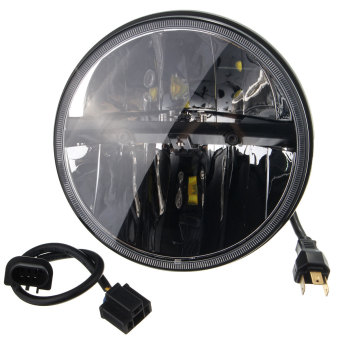 7 INCH MOTORCYCLE PROJECTOR DAY MAKER HID LED LIGHT BULB HEADLIGHT For Harley - Intl