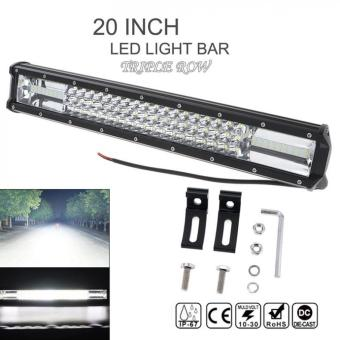 7D 20 Inch 540W Car LED Curved Worklight Bar Triple Row Spot Flood Combo Offroad Light for Truck SUV 4X4 4WD ATV - intl
