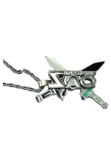 Anime - Sword Art Online Rotating Necklace (Silver)