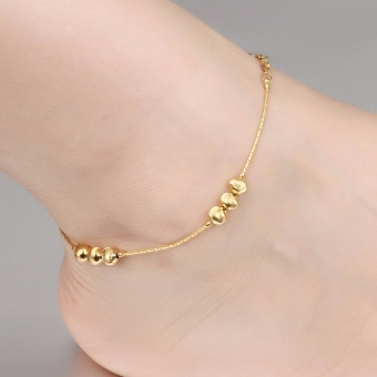Anklet Foot Jewelry Gold Anklet Bracelet Leg Chain 18K Gold Plated Anklets for Women Bridal Foot Jewelry - intl