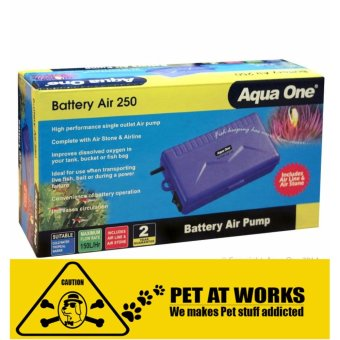 Aqua One Battery Air Pump 250 (Backup Power Air Pump) for fish tankaquarium, pond, planted tank, marine tank and salted water tank
