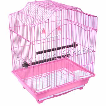 Bird Cage Small Mansard Curved (38 x 29 x 22 cm) - Pink