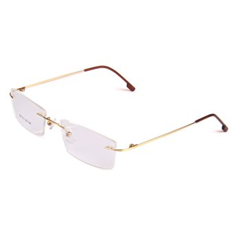 BolehDeals Fashion Metal Rimless Eye Glasses Eyeglasses Gold FrameLightweight