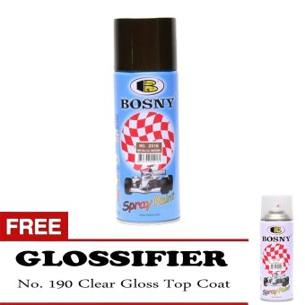 Bosny Metallic Color Spray Paint No. 2516 Metallic Brown with Free190 Top Coat Clear Gloss
