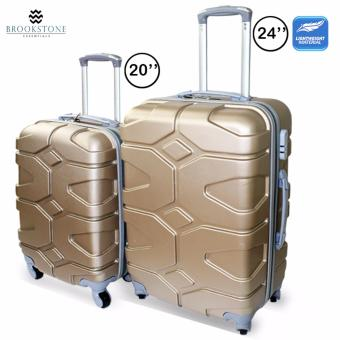 Brookstone Misty Kempton Lightweight Plain Hard Case 4 Wheel 2in1 Travel Luggage (823)