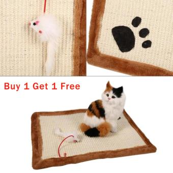?Buy 1 Get 1 Free?Cat/Kitten Scratching Training Sisal Post Bed Sofa Claws Mat/Pad(Beige) - intl