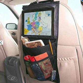 Car Back Seat Organizer with Tablet Holder ,Back Seat PAD/PhoneHanging Bag Ipad Holder Kick Mat for Kids