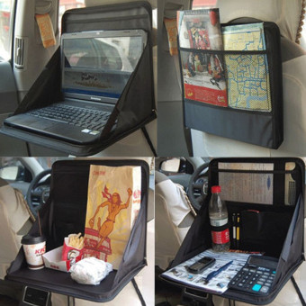 Car mounted back car table computer rack folding chair