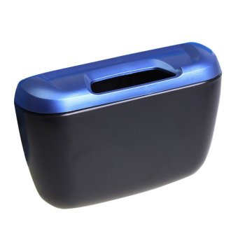 Car Side Door Interior Cargo Trash Can Garbage Storage Box Container(Blue)