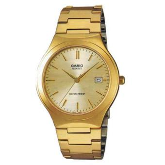 Casio Vintage Gold Plated Stainless Steel Strap Watch MTP-1170N-9ARDF