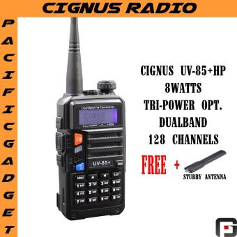 Cignus Uv-85HP 8watts NTC APPROVED dual band two way radio with FM radio (Black)