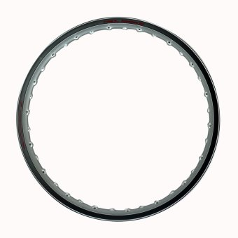 Comstar A-Type 1.40 x 17 Motorcycle Alloy Rim (Silver)