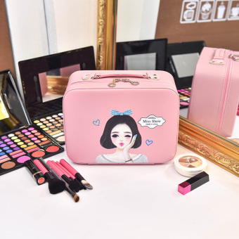 Cute female small portable storgage bag Korean cosmetic bag