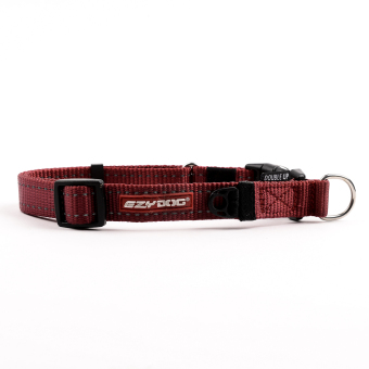 Ezydog Double Up Dog Collar (Red)