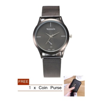 Fashion Quartz Stainless Steel Band Watch For Women + FREE Gift -intl