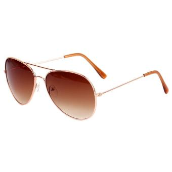 Fashionable UV400 Metal Frame Aviator Sunglasses Vintage Retro Sun Glasses for Women Men Ladies