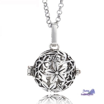 Flower Aromatherapy Essential Oil Diffuser Necklace - intl