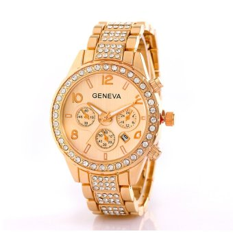 Geneva 298 Women's Gold Stainless Steel Strap Watch