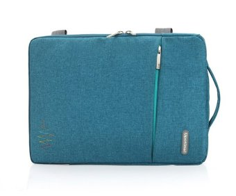 Green Blue 15 15.6 Inch Waterproof Nylon Laptop Notebook Tablet BagBags Case Messenger Briefcase Sleeve for Men Women