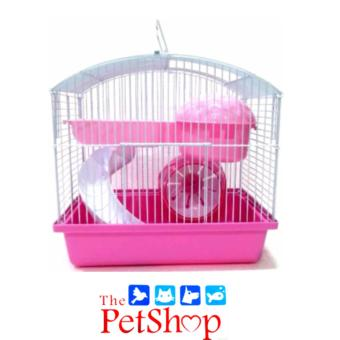 Hamster Cage 27x20.5x25.5cm Pink 168 (with feeder)