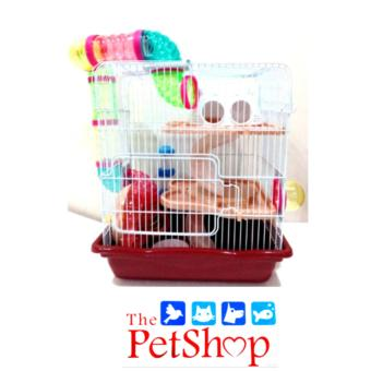 Hamster Cage w/ Tube MO12B Brown