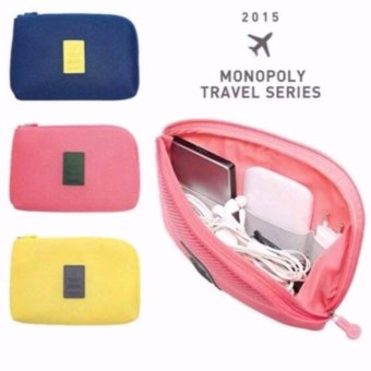 Handy Travel Gadget Organizer Pouch Color Pink