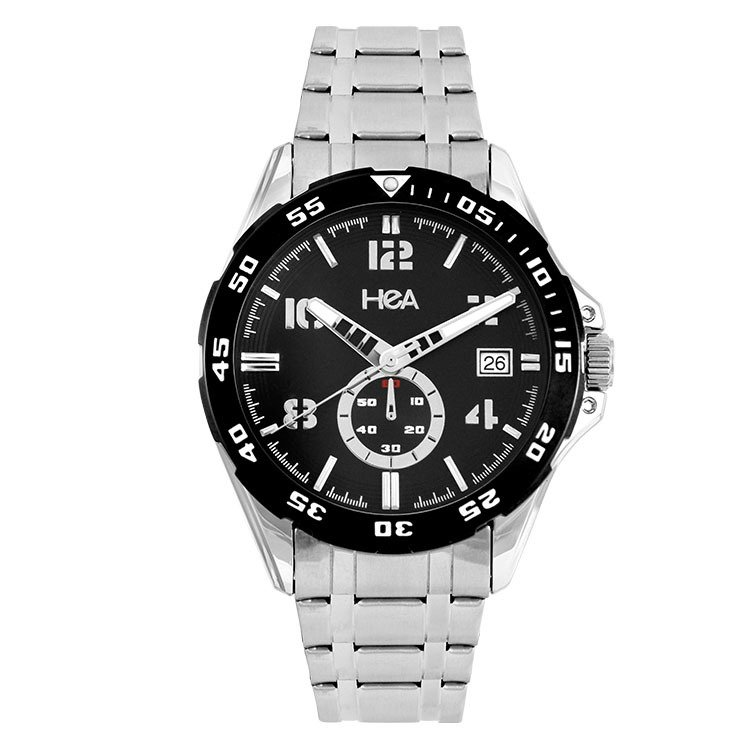 hea inox mens black stainless steel watch kha2070 1102 lazada ph