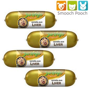 Jerhigh Liver Hotdog Bar Treats for dogs - 150g - set of 4