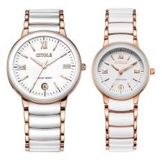 Jiage Bontek Electronic Citole Watches The Ms Ceramic Quartz Watch Retro Bijou Thin Men Diamond Couple